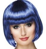 Pruik bobline cabaret blauw