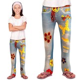 Flower power jeans legging kind