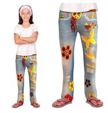 Flower power jeans legging kind