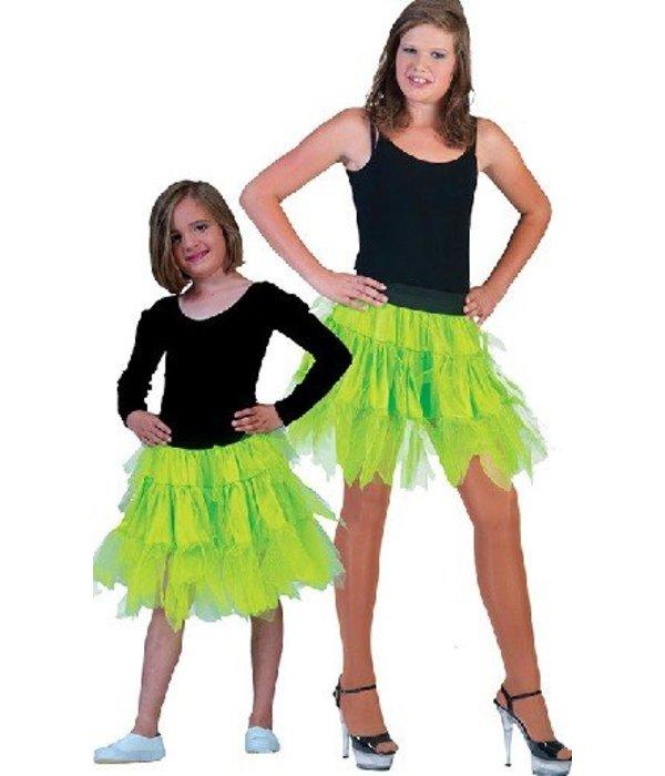 Fancy petticoat neon groen kind