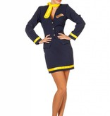 Stewardess kostuum luxe