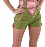 Sexy Tiroler broek met bretels groen