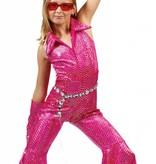 Disco jumpsuit kind roze