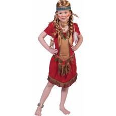 Indiaans meisje kostuum Red Hawk elite