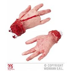Afgehakte hand met afgesneden vinger