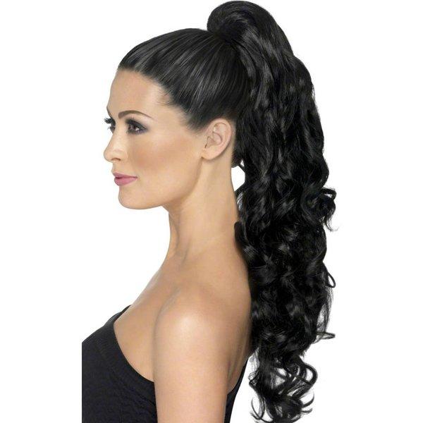 Hairextensions op clip zwart krul