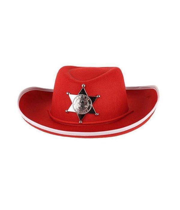 Hoed Vilt Sheriff rood junior