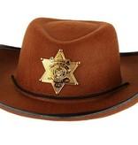 Hoed vilt Sheriff bruin junior