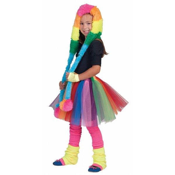 Regenboog rok kind