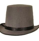 Hoge hoed vilt grijs