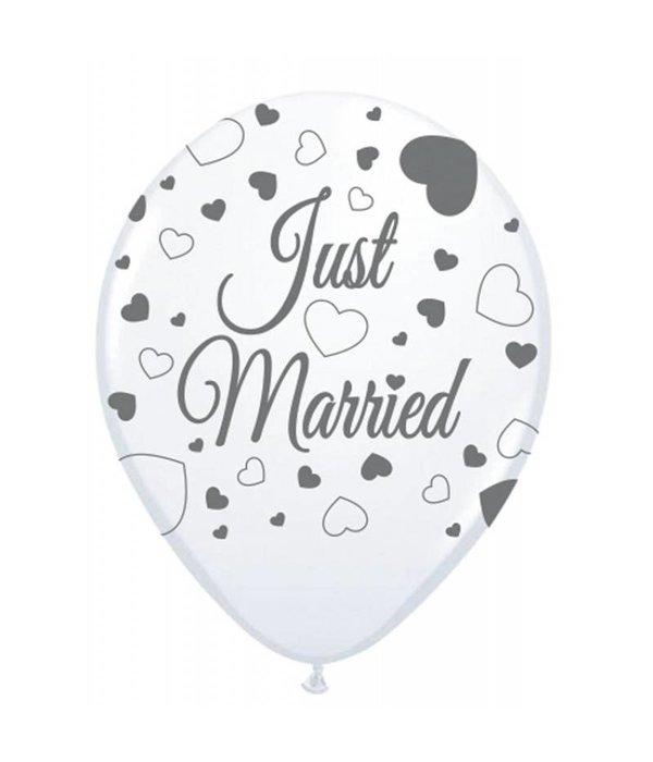 Just Married ballonnen 8st