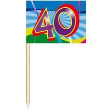 Coctailprikkers 40 jr. (50 st)