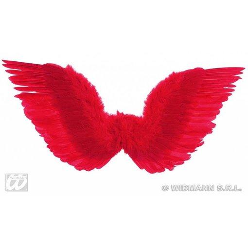 Gevederde vleugels rood 86x31cm