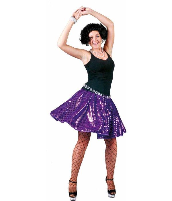 Disco rok glitter paars