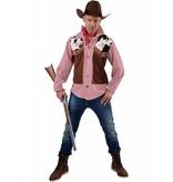 Cowboy blouse met ingenaaid vestje