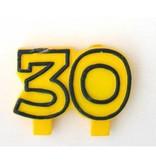 Kaars '30' geel