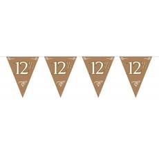 Bronzen vlaggenlijn 12,5 jaar huwelijk