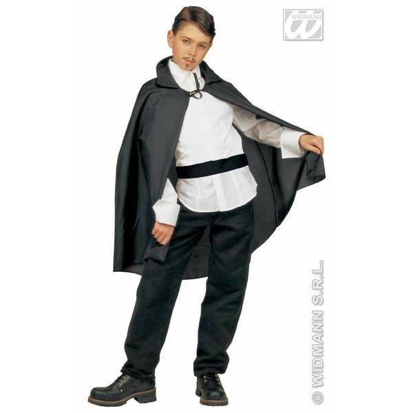 Zwarte cape kind 90cm