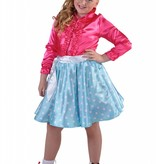 Rock en Roll rokje Grease kind turquoise elite