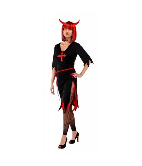 Zwarte Halloween Duivelsjurk