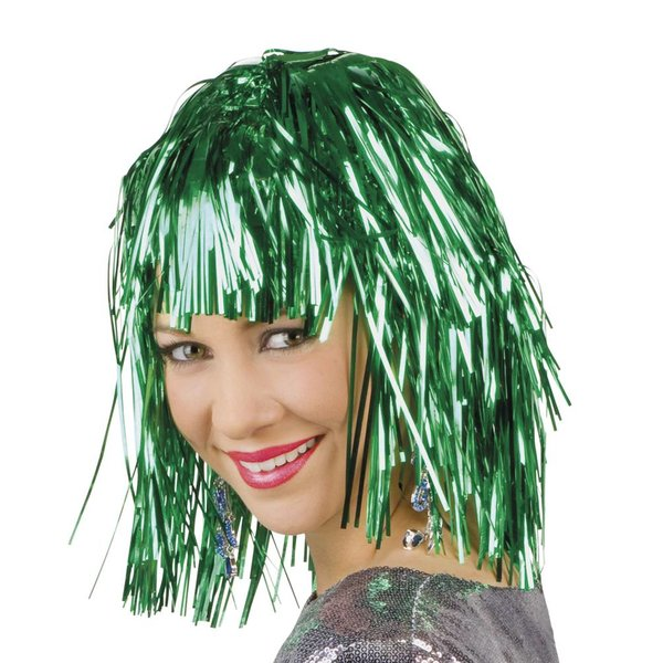 Lametta pruik groen
