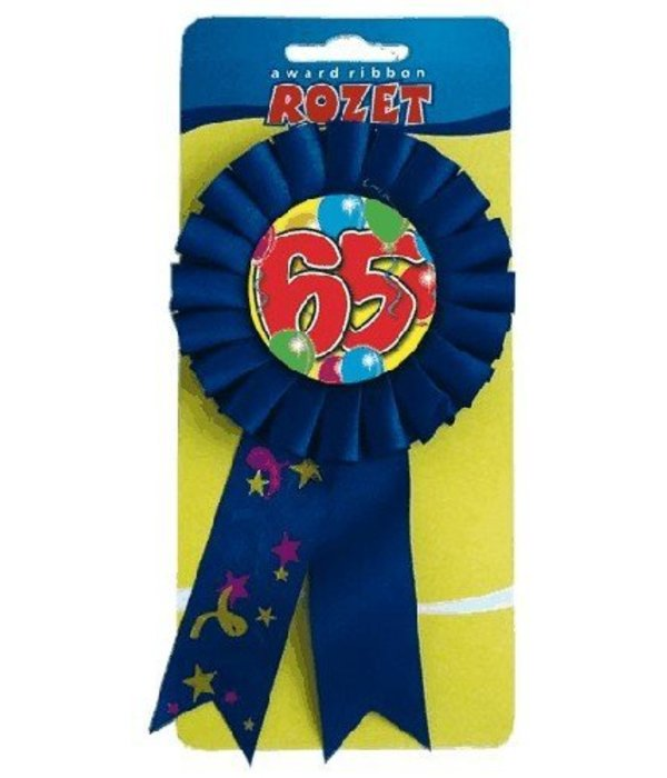 Rozet ballon 65 blauw