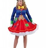 Clownspak vrouw Lucky