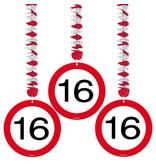 Hangdecoratie verkeersbord 16 jaar