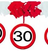 Slinger onderhanger verkeersbord 30