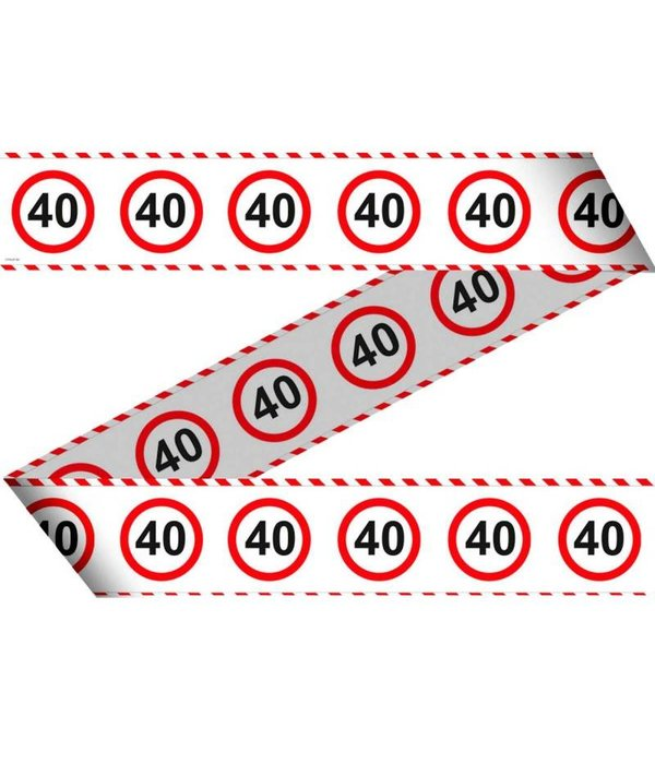 Afzetlint Verkeersbord 40