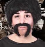 Snor macho man zwart