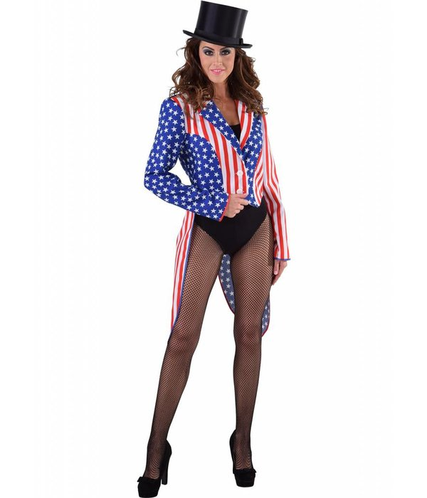 Slipjas Amerika Stars and Stripes vrouw