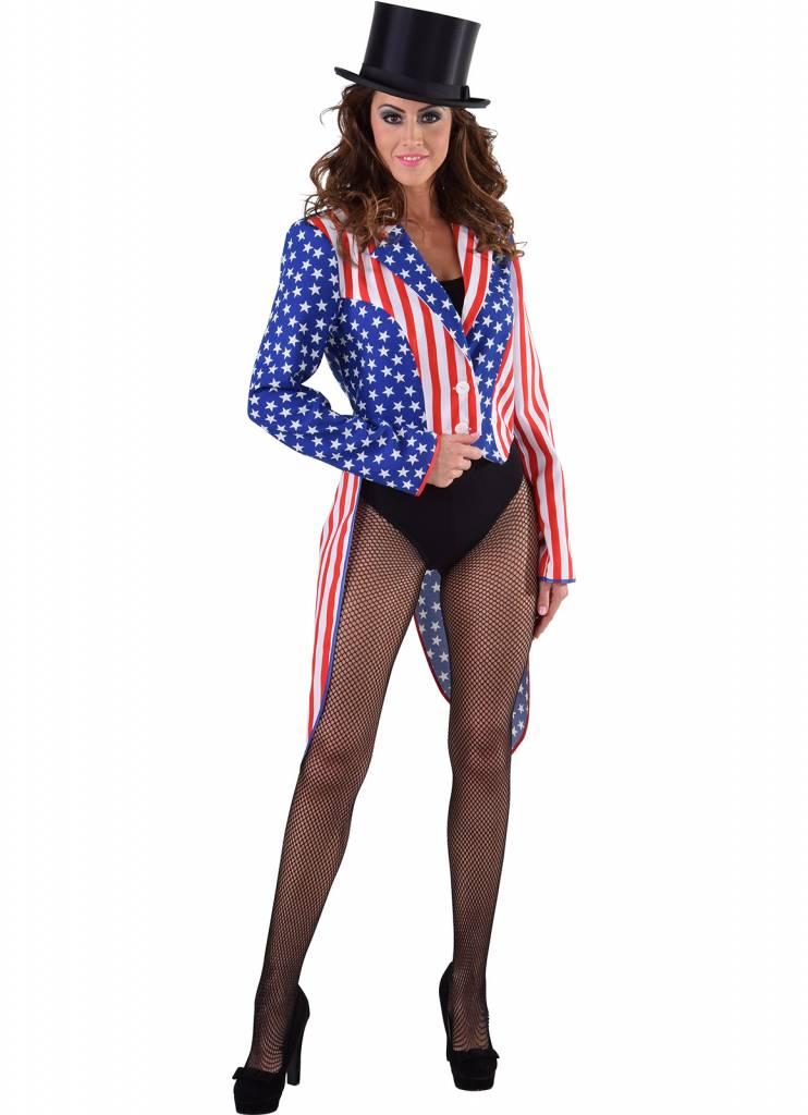 Slipjas Amerika Stars and Stripes vrouw