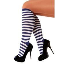 Kniekousen Clown blauw/wit