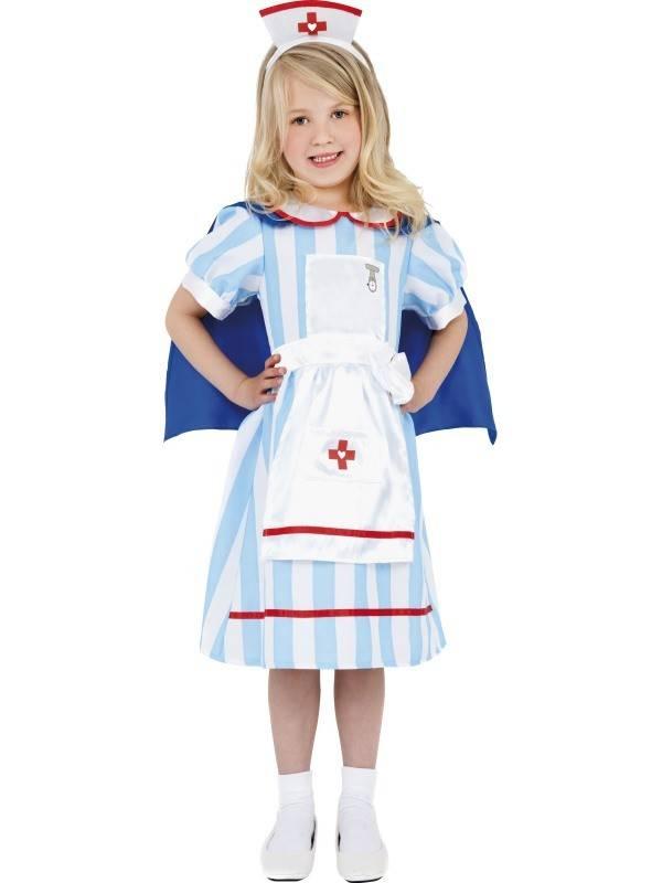 Vintage verpleegster kostuum kind