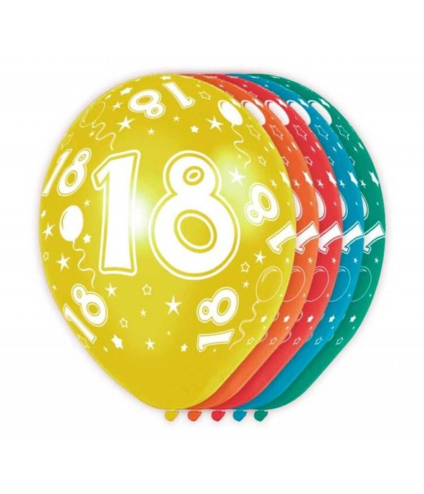 18 Jaar Verjaardag Ballonnen (5st)