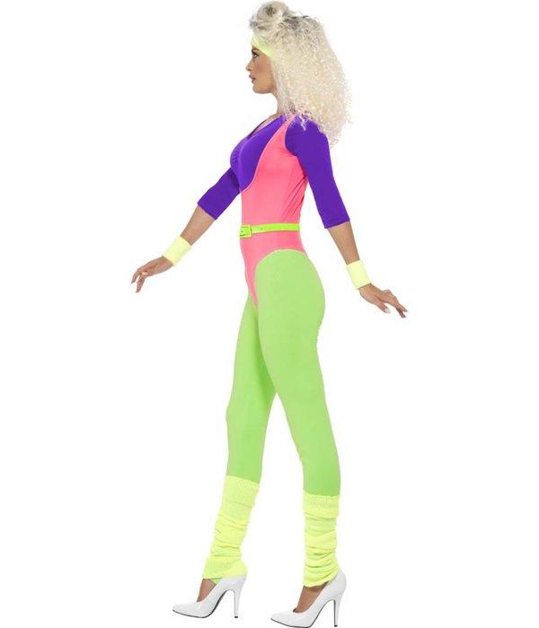80's workout kostuum vrouw