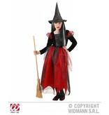Heksenpak kind zwart/rood