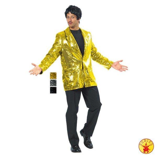 Disco jasje pailletten goud man