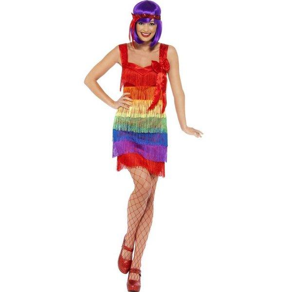 Rainbow flapper 20's kostuum