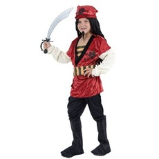 Piratenpakje jongen rood