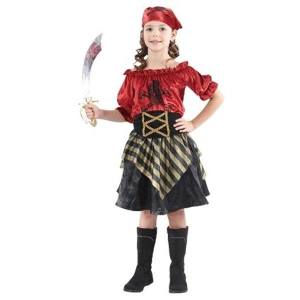 Piratenpakje meisje rood elite