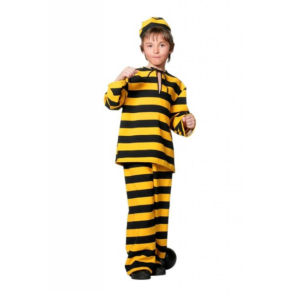 Boef verkleedpak kind geel/zwart