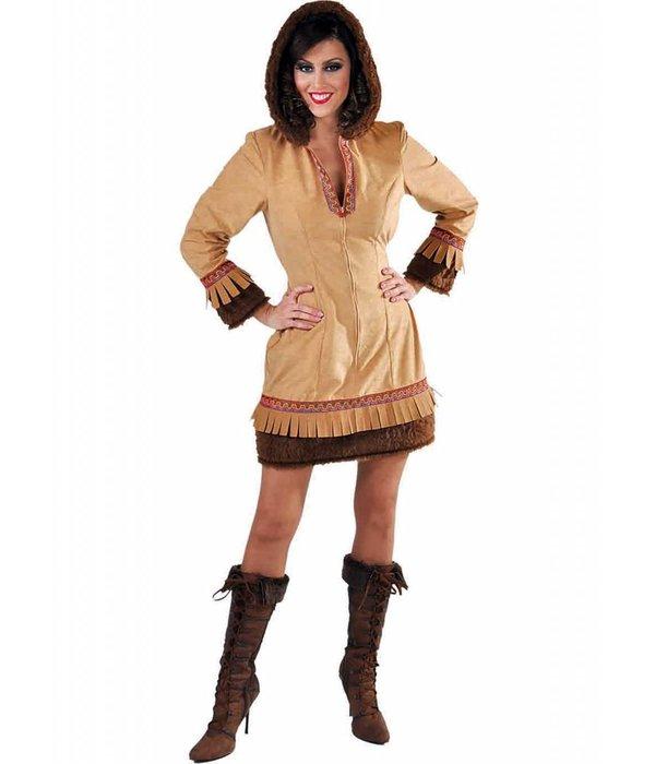 Eskimo jurkje vrouw bruin