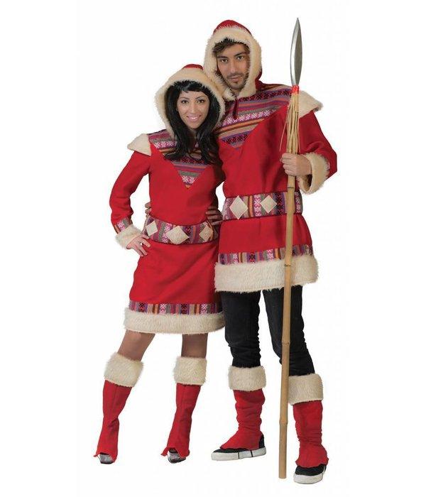 Eskimo pakje vrouw rood