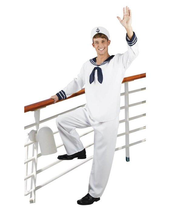 Sailor Matrozen kostuum man wit