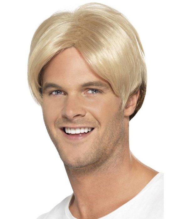 jaren 90 boyband pruik blond