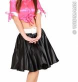 Satijnen rok zwart