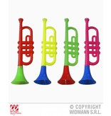 Trompet clown met geluid plastic