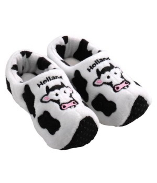 Klompsloffen wit koe
